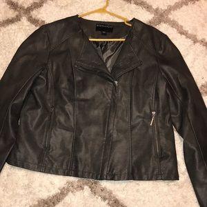 Faux leather biker jacket!!